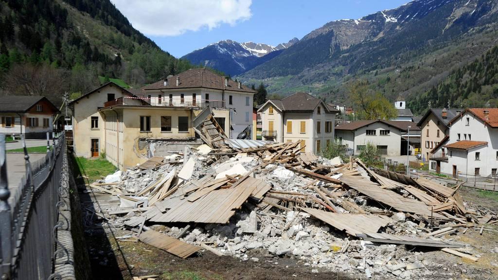 Die Urek will für den Fall eines Erdbebens eine finanzielle Absicherung schaffen. (Im Bild: Katastrophen-Übung der Armee im Tessin)