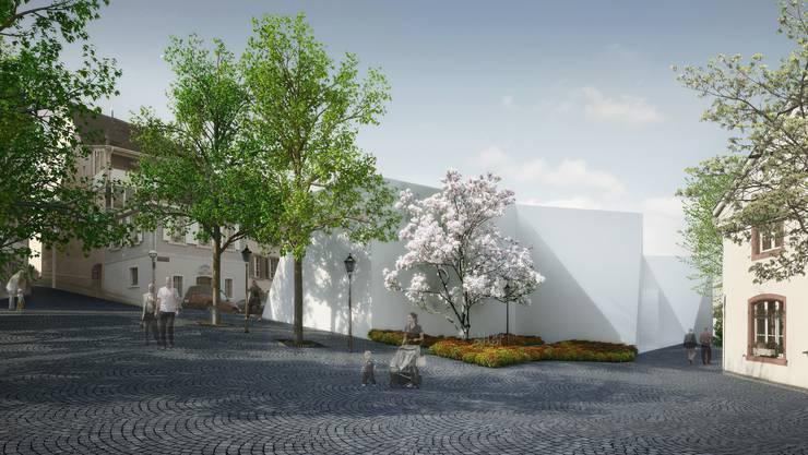 So wie diese Visualisierung der Investoren soll das Projekt vom Lindenplatz her aussehen.