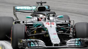 War eine Klasse für sich: Lewis Hamilton im Mercedes