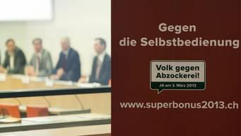 Auch im Aargau sind SVP-Vertreter für die Abzocker-Initiative.
