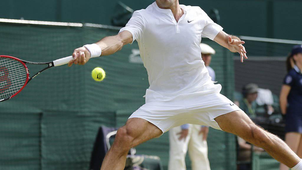 Roger Federer in Wimbledon - 2016 und 2017 bereitet er sich auch in Stuttgart auf London vor