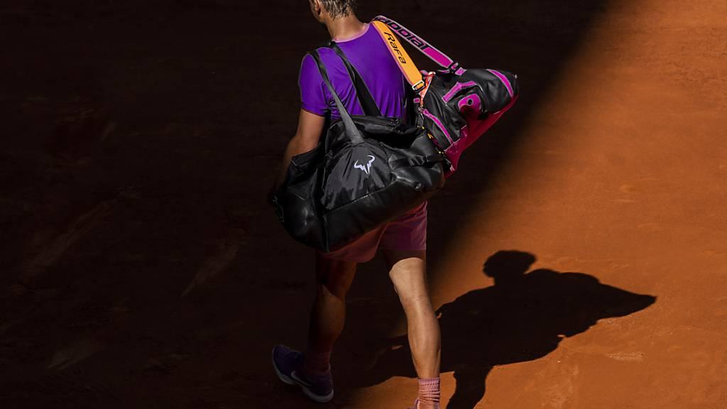 Rafael Nadal verlässt den Court in Madrid