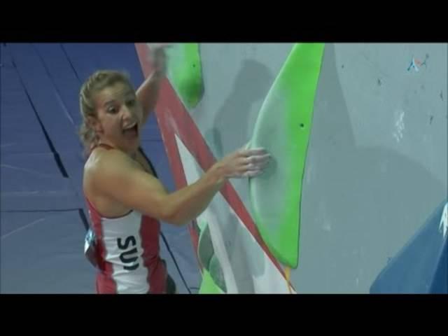Petra Klingler gewinnt die IFSC World Championships 2016 in Paris.