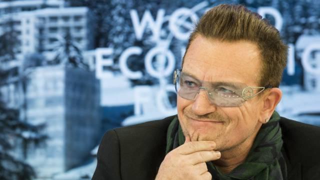 Nicht ohne meine Brille: Bono im Januar am WEF