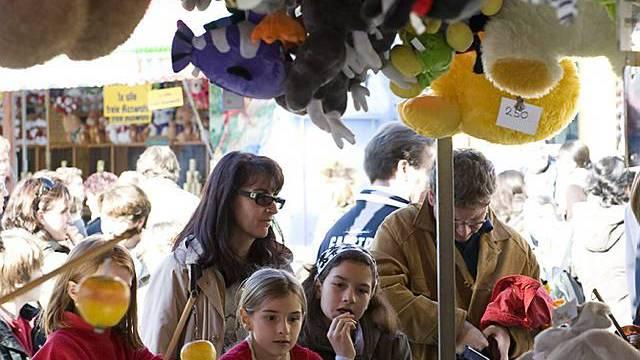 Marktstand an der Basler Herbstmesse (Archiv)