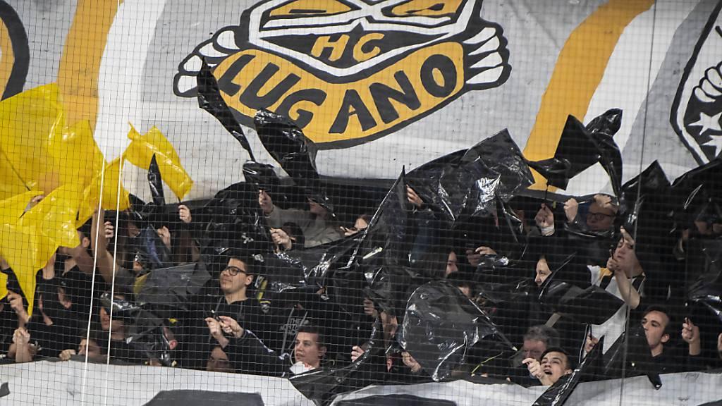 Enthusiastische Fans des HC Lugano. Ein solches Bild könnte lange nicht mehr zu sehen sein.
