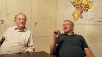 Bernhard Horlacher (links) ist ein klarer Befürworter des Gemeindezusammenschlusses. Genauso deutlich lehnt Peter Deubelbeiss die Fusion ab.Thomas Wehrli