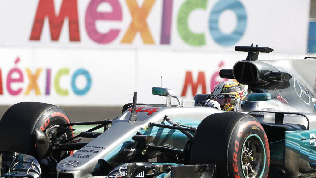 Lewis Hamilton musste sich in Mexiko mit zwei zweiten Plätzen begnügen