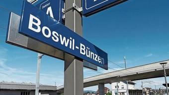 Am Bahnhof sind Boswil und Bünzen schon vereint.