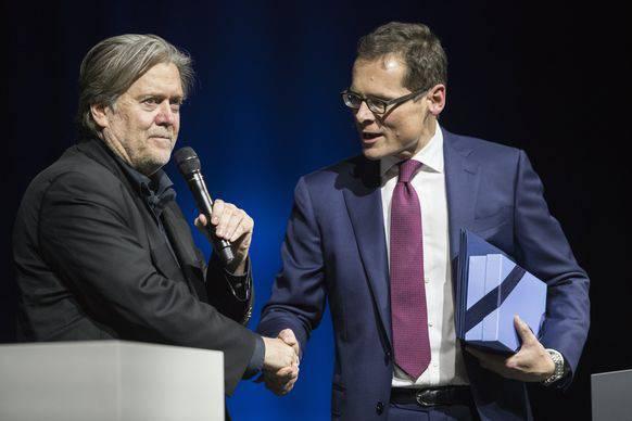 Der Meister und sein Jünger: Steve Bannon und Roger Köppel.