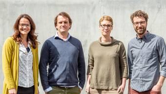 Die Geschäftsleitung ist mit dem letzten Jahr zufrieden. Von links: Karin Stoll, Lukas Vogt, Katharina Stäger und Lorenz Schmidlin. zvg