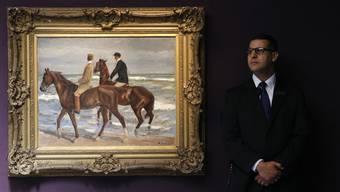 2015 bei Sotheby's in London für umgerechnet 2,7 Millionen Franken versteigert: Das Raubkunst-Werk «Zwei Reiter am Strand nach links» von Max Liebermann.