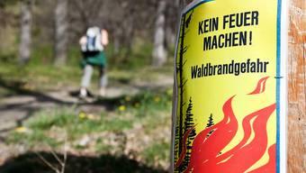 In Aargauer Wäldern und in deren Nähe sind Feuer nun verboten (Archiv).