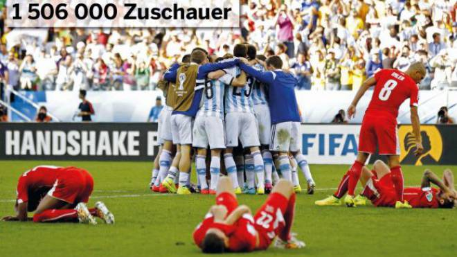 WM-Achtelfinal gegen Argentinien. Die Nati scheidet nach aufopferndem Kampf aus. Foto: Keystone