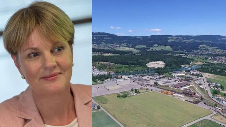 Biogen-Schweiz-Chefin Natascha Gill erklärt, wieso sich die Bio-Tech-Firma für Luterbach entschieden hat.