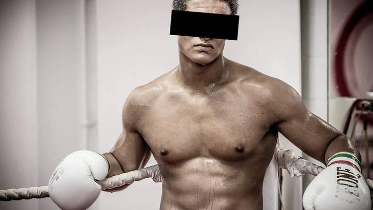 B. K. alias Carlos beim Boxtraining vor dem Skandal im Jahr 2013.