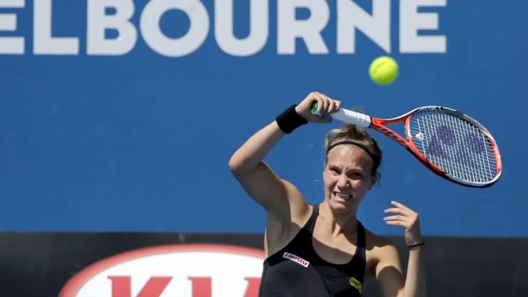 Nach drei Siegen in der Qualifikation stand Viktoija Golubic in der Startrunde gegen die Nummer 11 der Welt oftmals unter Druck.