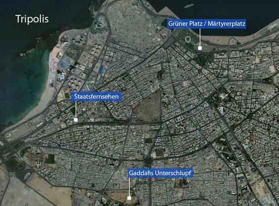Karte von Tripolis