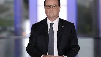 Auch die seit langem miesen Umfragewerte und die dauerrekordhohe Arbeitslosenquote scheinen dem Optimismus des französischen Präsidenten Hollande keinen Abbruch zu tun - entgegen der ernsten Miene am Fernsehen.