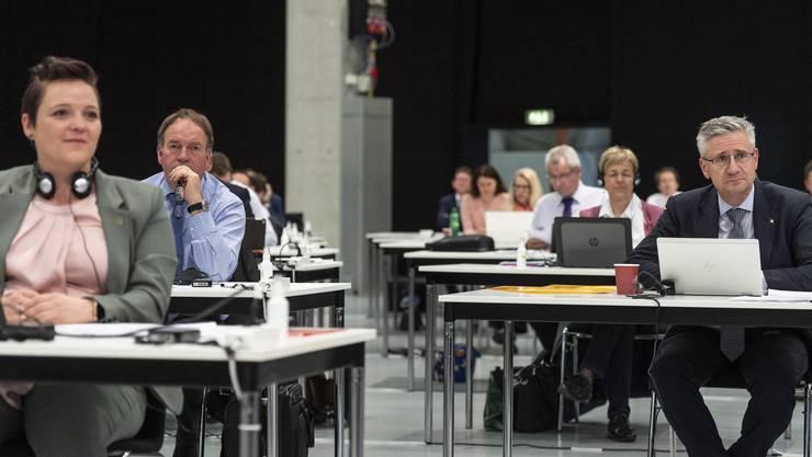 Keine Dividenden bei Kurzarbeit: Stefanie Heimgartner (links), Alois Huber (hinten links) und Andreas Glarner haben dem Verbot zugestimmt.