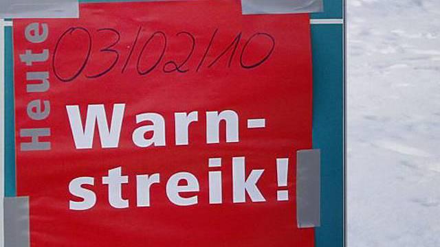 Warnstreik geht in Deutschland weiter