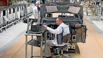 E-Auto-Produktion im VW-Werk Zwickau: ein Lichtblick für die deutsche Industrie.