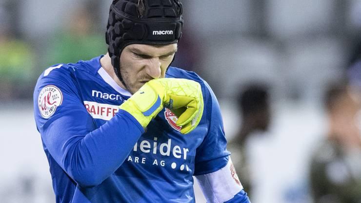 Thuns Goalie Guillaume Faivre erlebte einen Nachmittag zum Vergessen