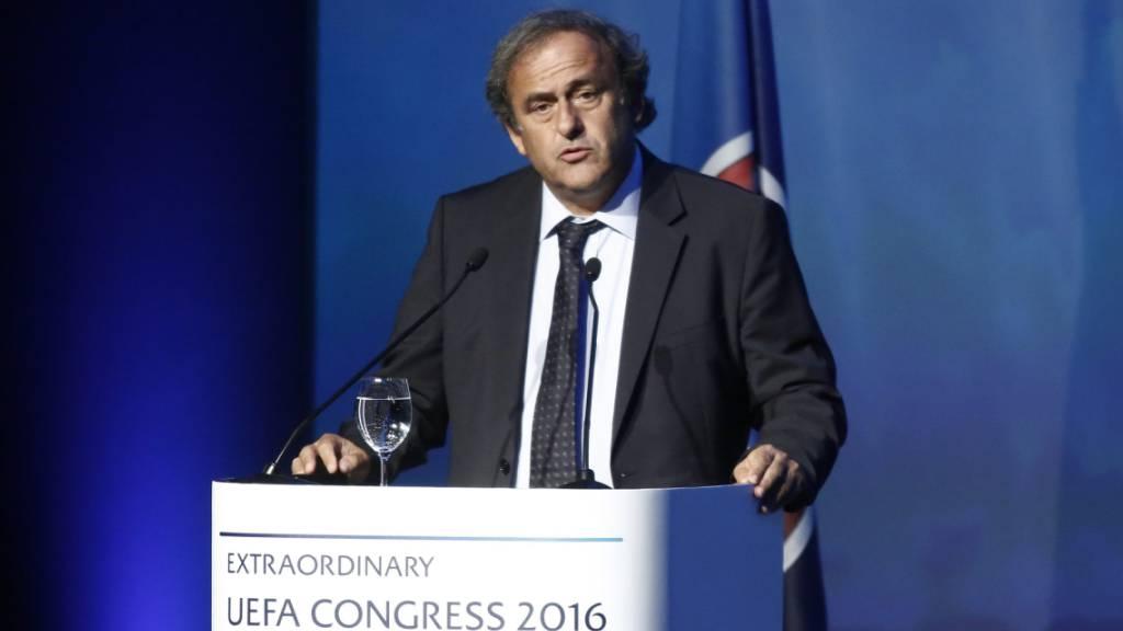 Der ehemalige UEFA-Präsident Michel Platini anlässlich des Kongresses 2016 in Athen