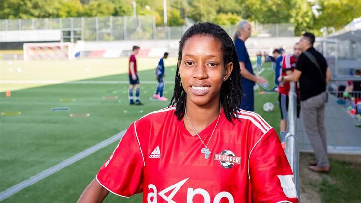 Sonja aus dem afrikanischen Inselstaat Kap Verde trainiert mit dem FC Baden.