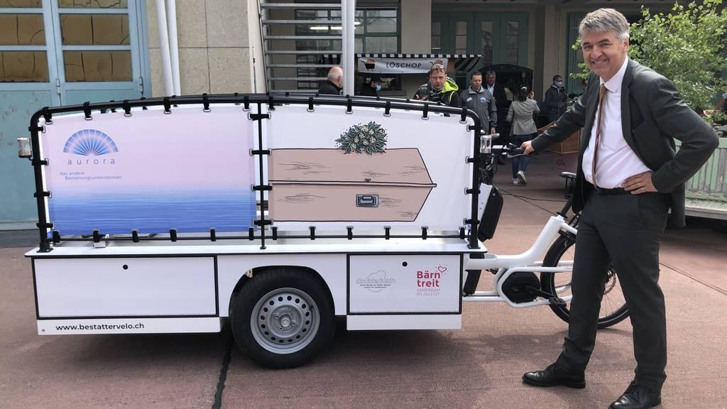 Letzte Fahrt mit dem Berner Bestattungsvelo