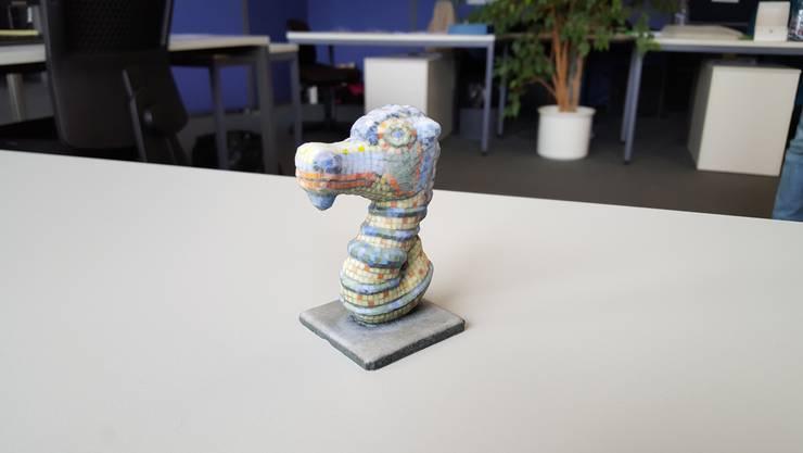 Dieses dreidimensionale Modell lässt sich kaum vom Original-Seepferdchen unterscheiden.