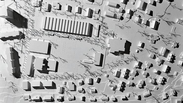Siegerprojekt: Der geplante Längsbau ist zweigeschossig.