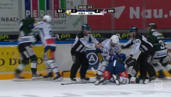EHC Olten vs. EHC Kloten: die Tumulte im Video