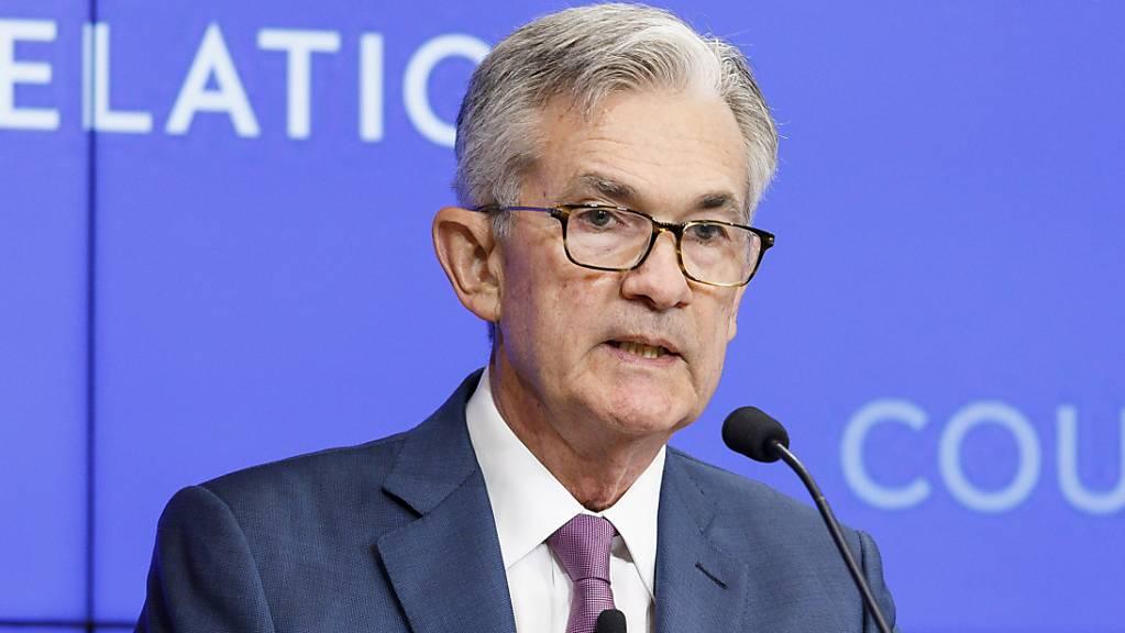 Die US-Notenbank Fed warnt vor einem Übermut an den Finanzmärkten. Im Bild US-Notenbankchef Jerome Powell. (Archivbild)