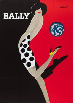 Bernard Villemot, Bally – La mappemonde, 1988