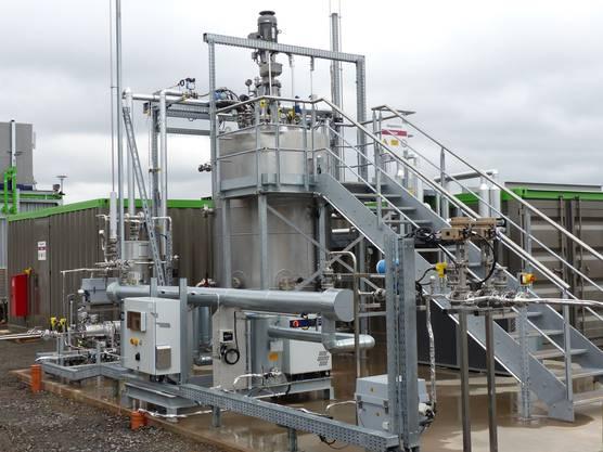 Ein Beispiel wo Strom zu Gas wird: die biologische Methanisierung - Anlage in  Allendorf (D).