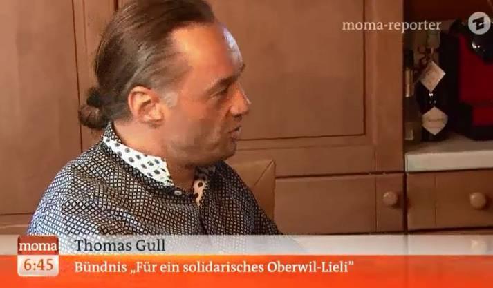 «Der ARD-Bericht hat uns provoziert», sagt Thomas Gull vom Bündnis «Für ein solidarisches Oberwil-Lieli»