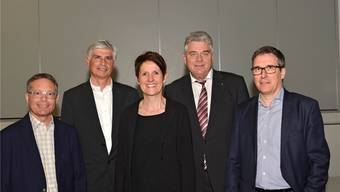 Der neue Verwaltungsrat der Golfplatz Heidental AG, vl.: Franco Borner, Charles Furter, Angela Leutwiler Hüssy, Kurt Frauchiger (Präsident), Alfons Hürzeler. zvg