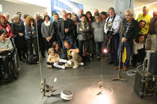 """Am Samstag wurde im Rehmann-Museum die Kunstausstellung """"Deux amis"""" eröffnet. Gilbert Peyre und Behrouz Varghaiyan zeigen Humorvolles und nicht Alltägliches."""