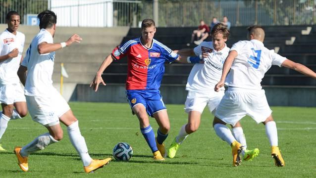 FCB-Nachwuchsspieler Cédric Itten (hier im Spiel gegen den FCZ) trifft gegen Liverpool doppelt.