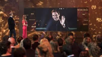 Zum 7. Mal Schweizer Sportler des Jahres: Tennisstar Roger Federer bedankt sich aus der Ferne