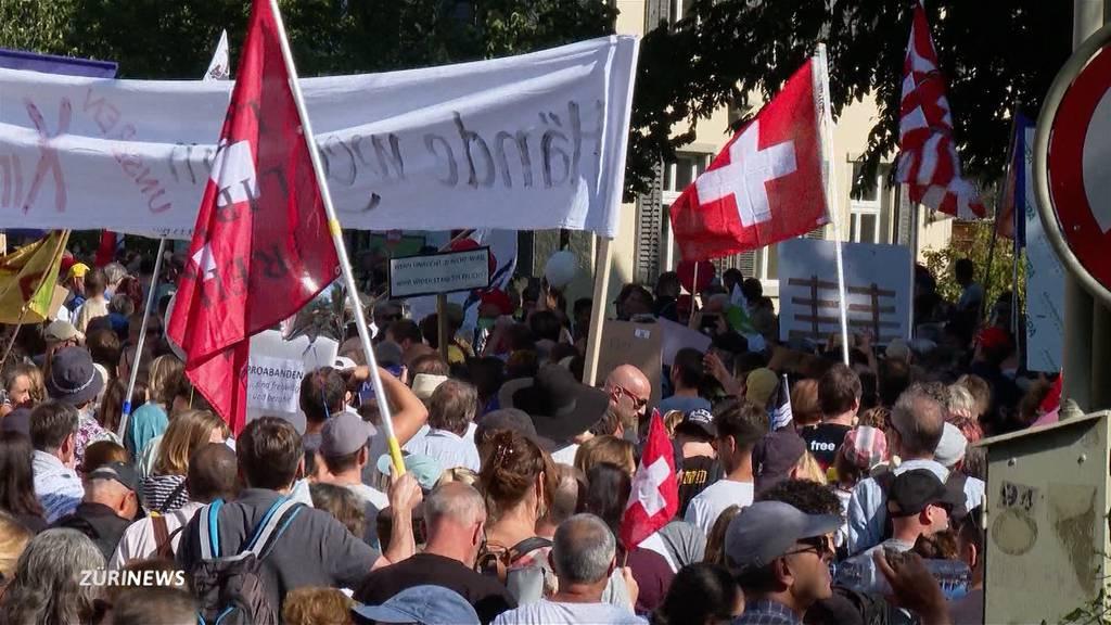 Tausende Massnahmen-Gegner demonstrieren friedlich in Winterthur