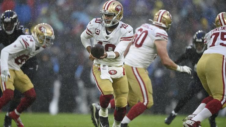 «Jimmy G» hat mit den 49ers bisher eine überraschend starke Saison gespielt und könnte im Super Bowl zum Spielverderber für die Ravens werden.