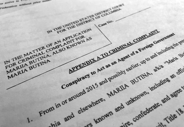 """""""Verschwörung, als Agent einer fremden Regierung zu agieren"""": Teile der Klage gegen Butina wurden öffentlich."""