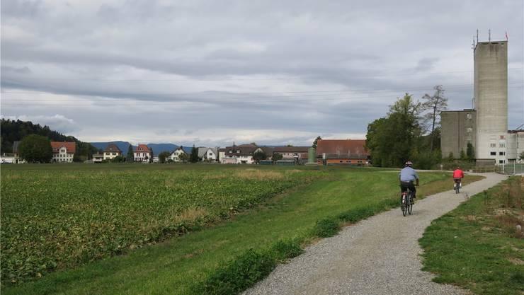 Die «Hegmatte» gegenüber dem Mühleareal soll zum neuen Standort von Depot und Werkstatt der WSB und zu zusätzlichem Siedlungsraum werden.