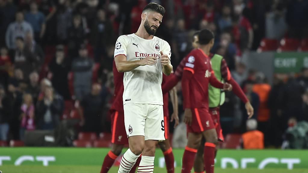 Die AC Milan mit Olivier Giroud verpasste einen Punkt in Liverpool