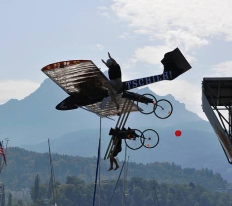 ...Flugphase 1: Der Kofmehl-Flieger fliegt!