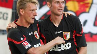 Augsburger Jubel nach dem 1:0.