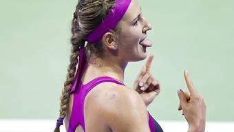 Viktoria Azarenka freut sich auf ihre Weise.