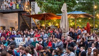 «Festivalstimmung» im Basler Voltabräu während der WM. zvg